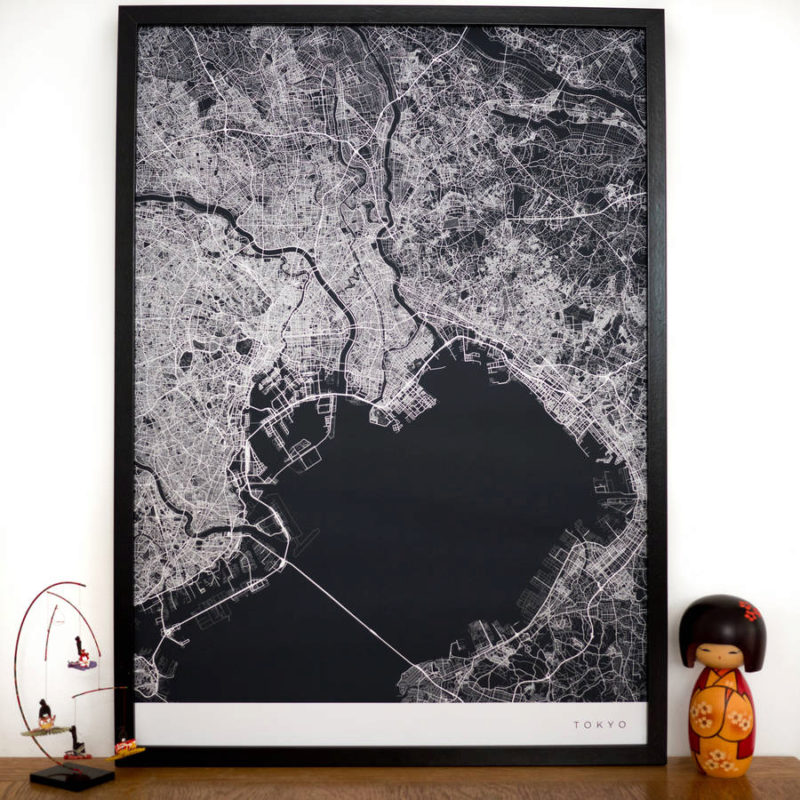 2 original personalised contemporary map 1 800