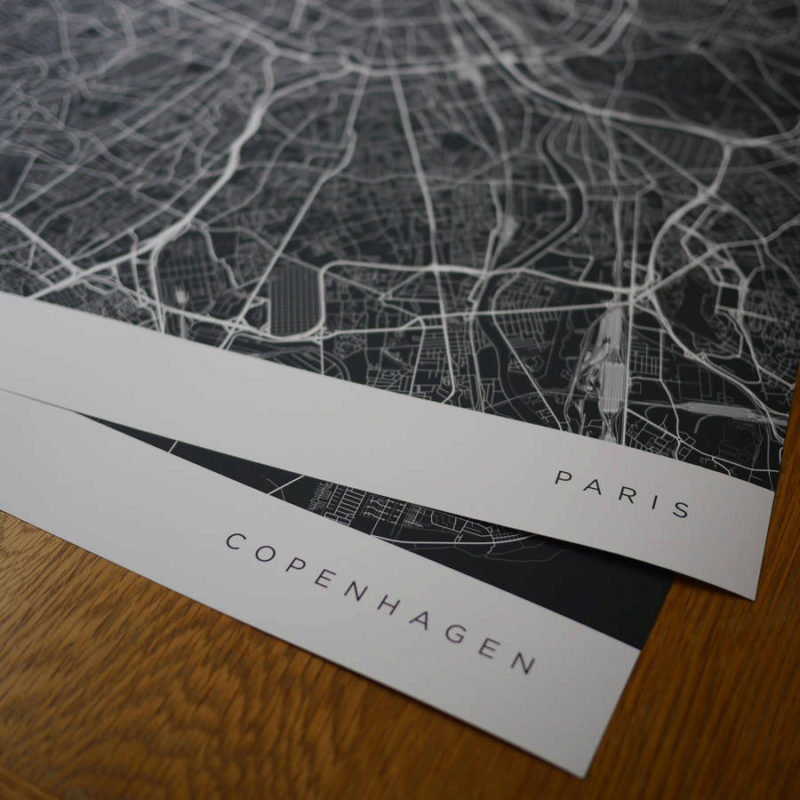 3 original personalised contemporary map 3 800