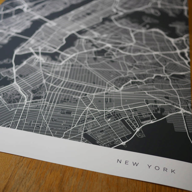Original personalised contemporary map 2 800