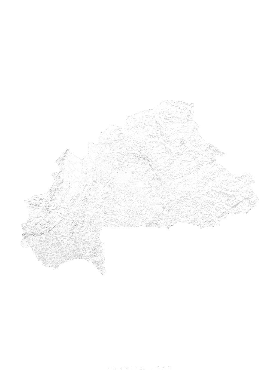 Burkina Faso wall map