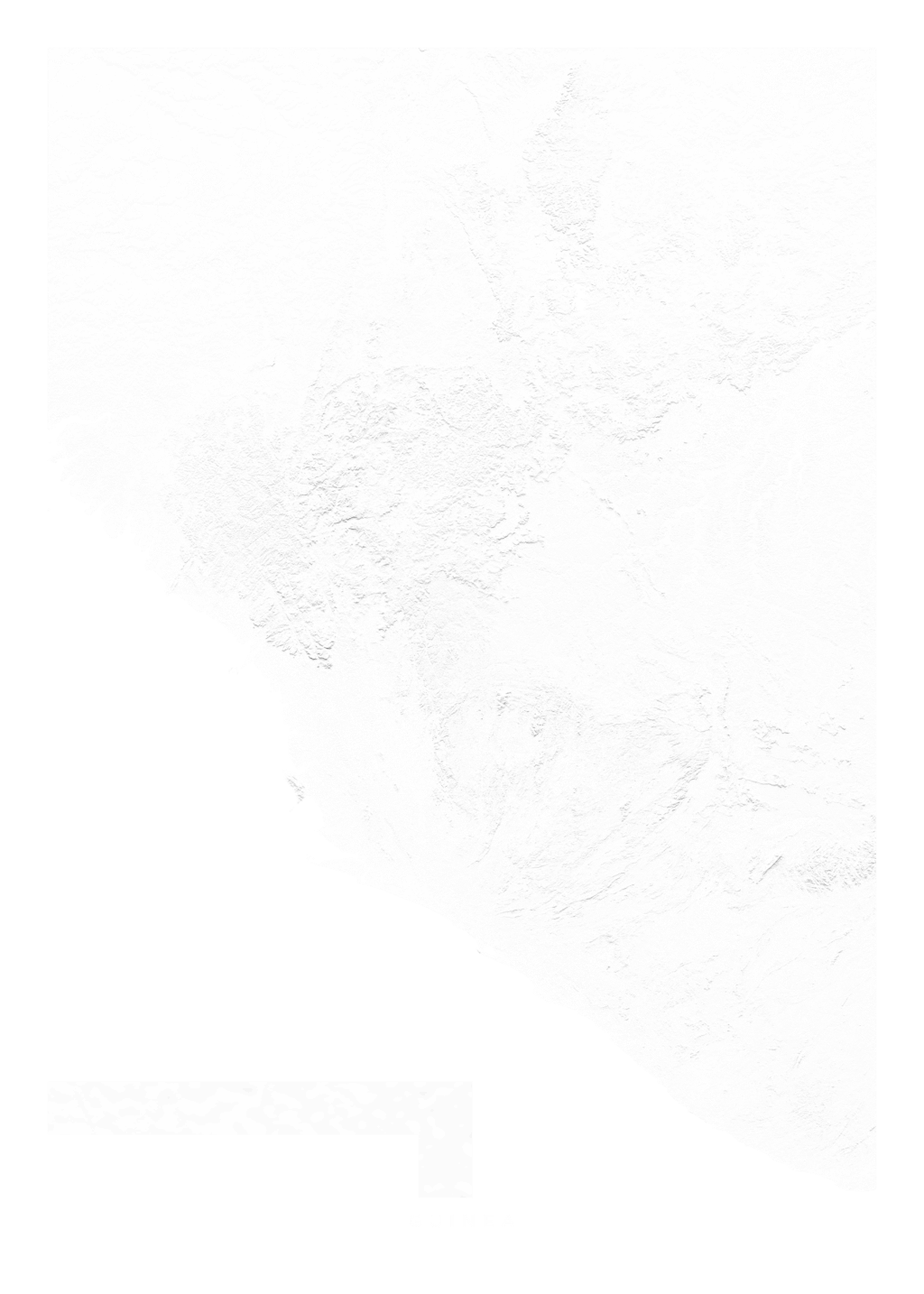 Guinea wall map