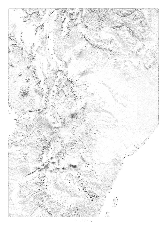 Kenya wall map