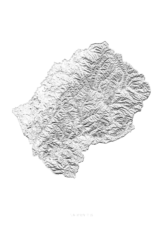 Lesotho wall map