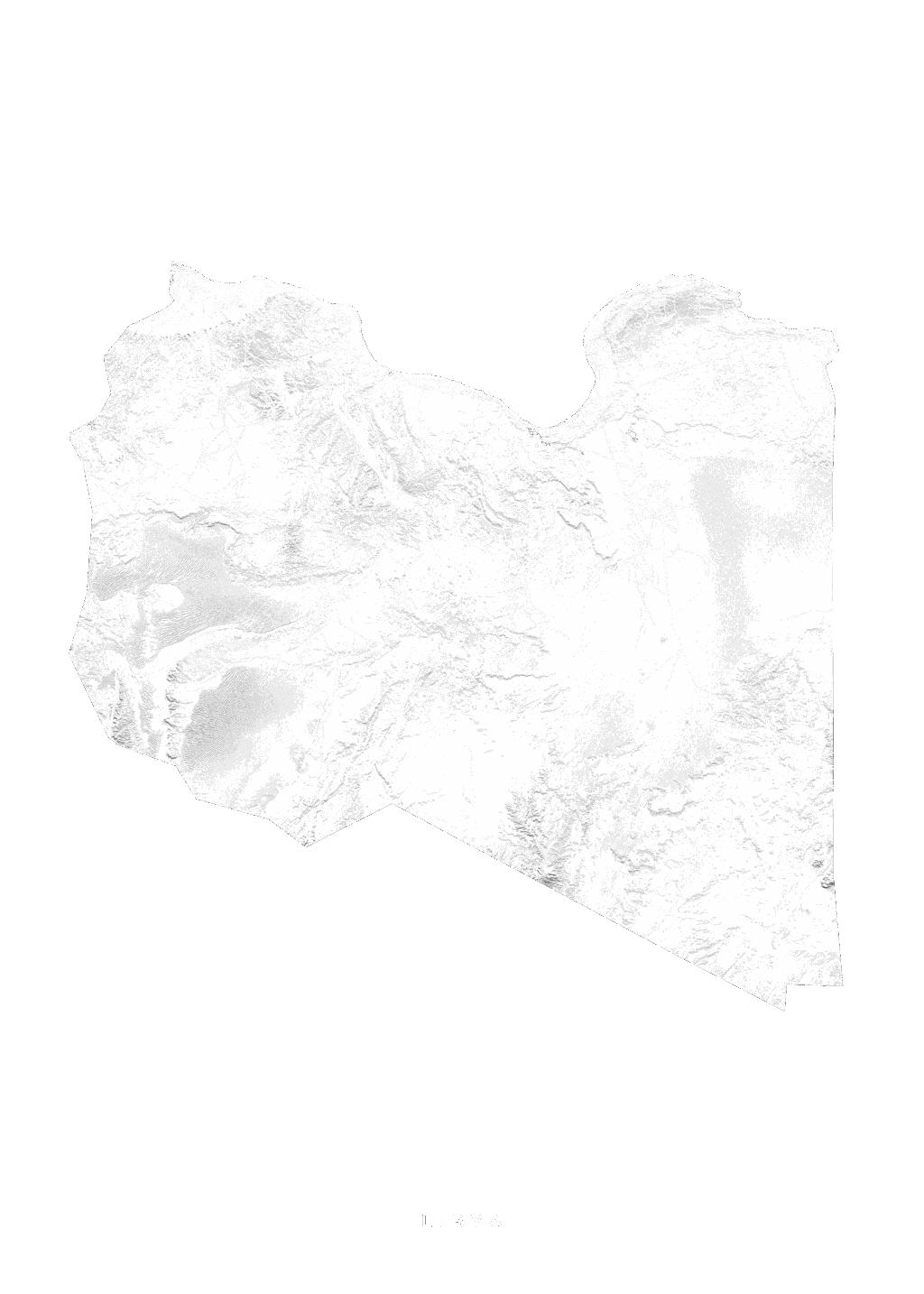 Libya wall map
