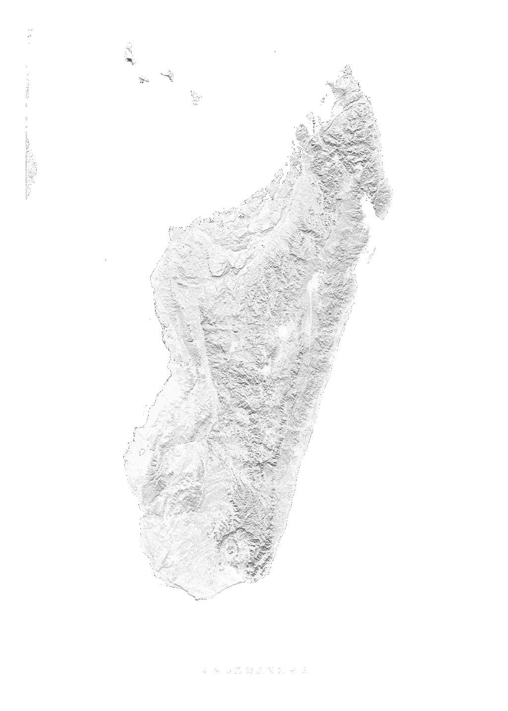 Madagascar wall map