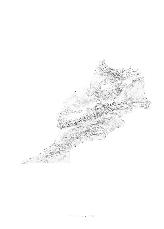 Morocco wall map