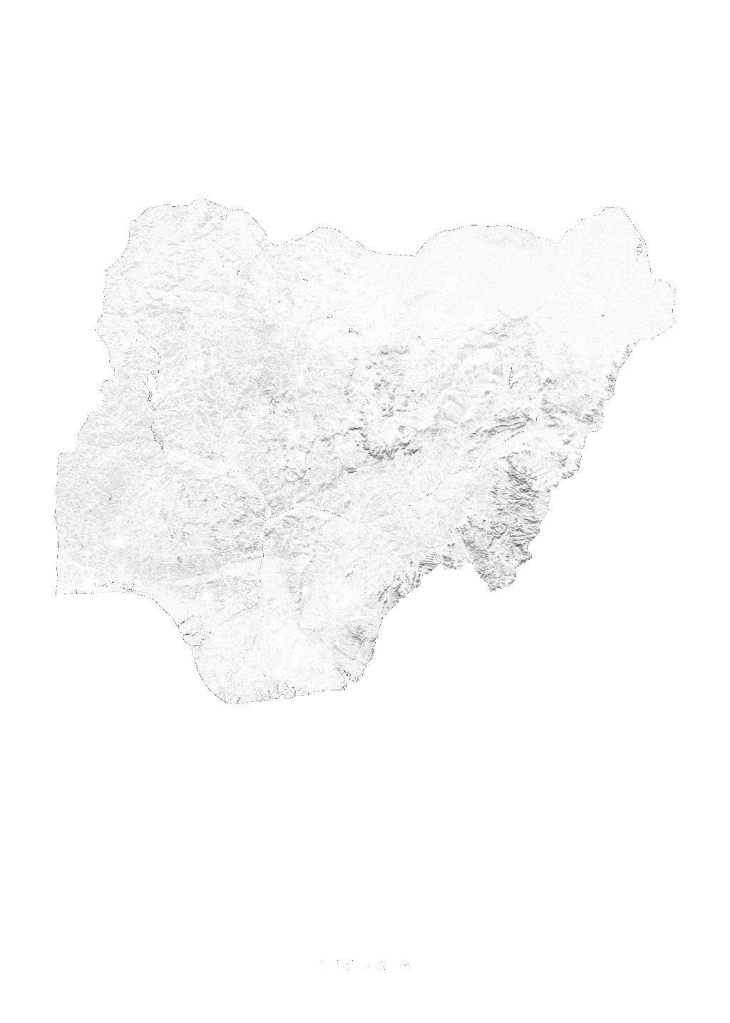 Nigeria wall map