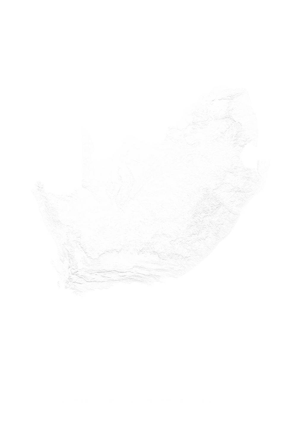 South Africa (Includes Lesotho) wall map
