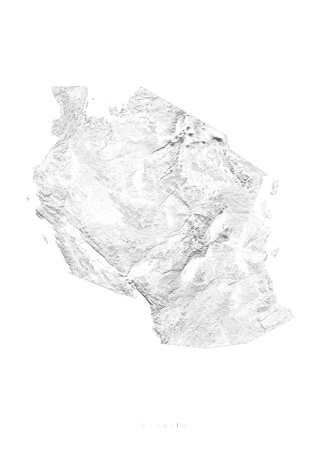 Tanzania wall map