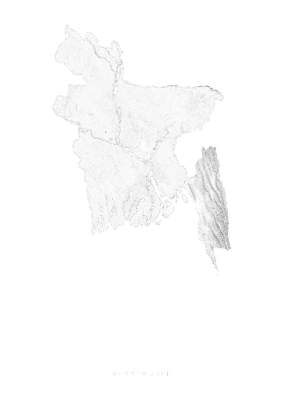 Bangladesh wall map