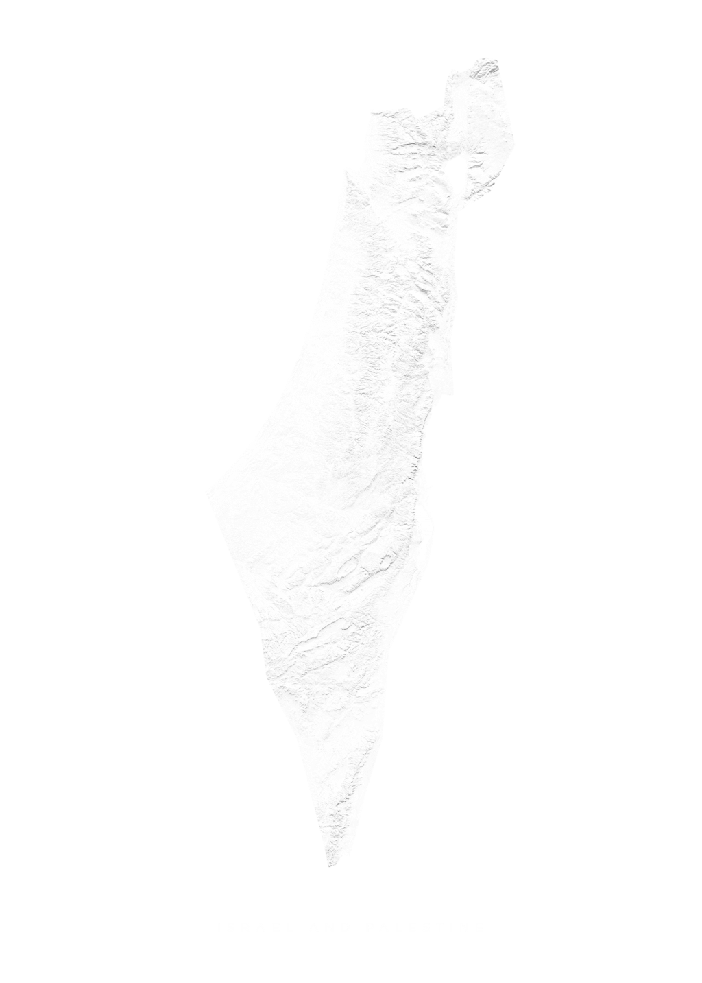 Israel And Palestine wall map