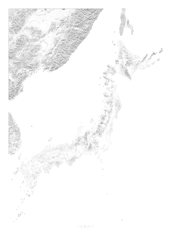 Japan wall map