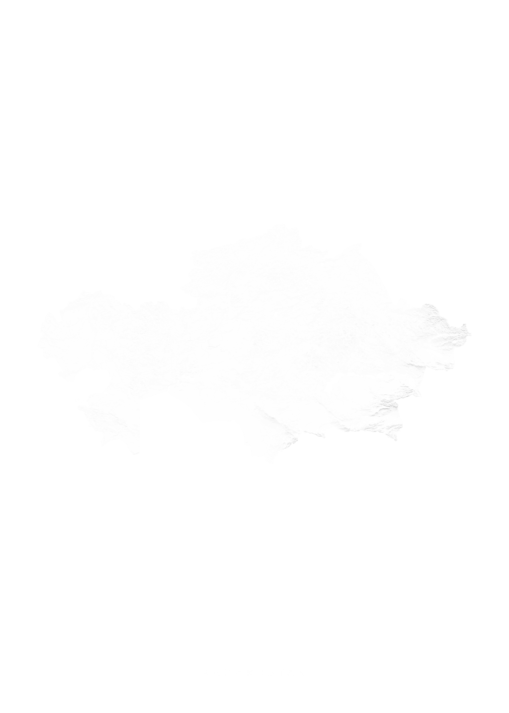 Kazakhstan wall map