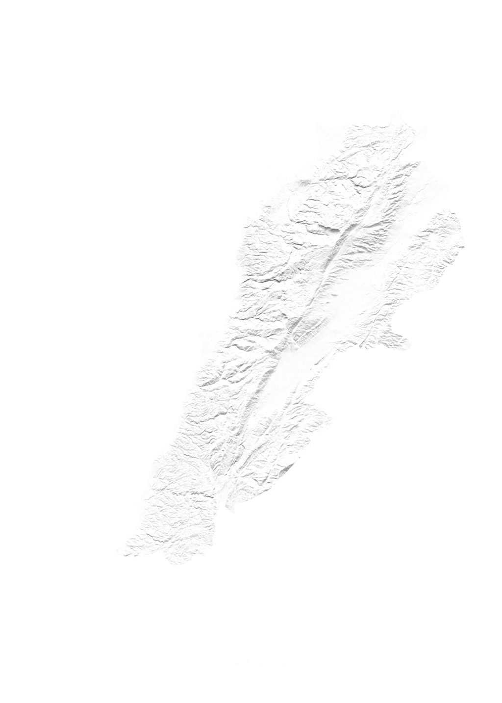 Lebanon wall map