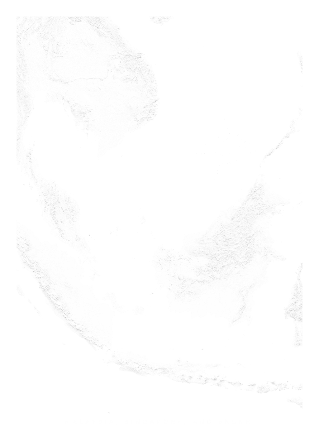 Malaysia, Singapore, And Brunei wall map