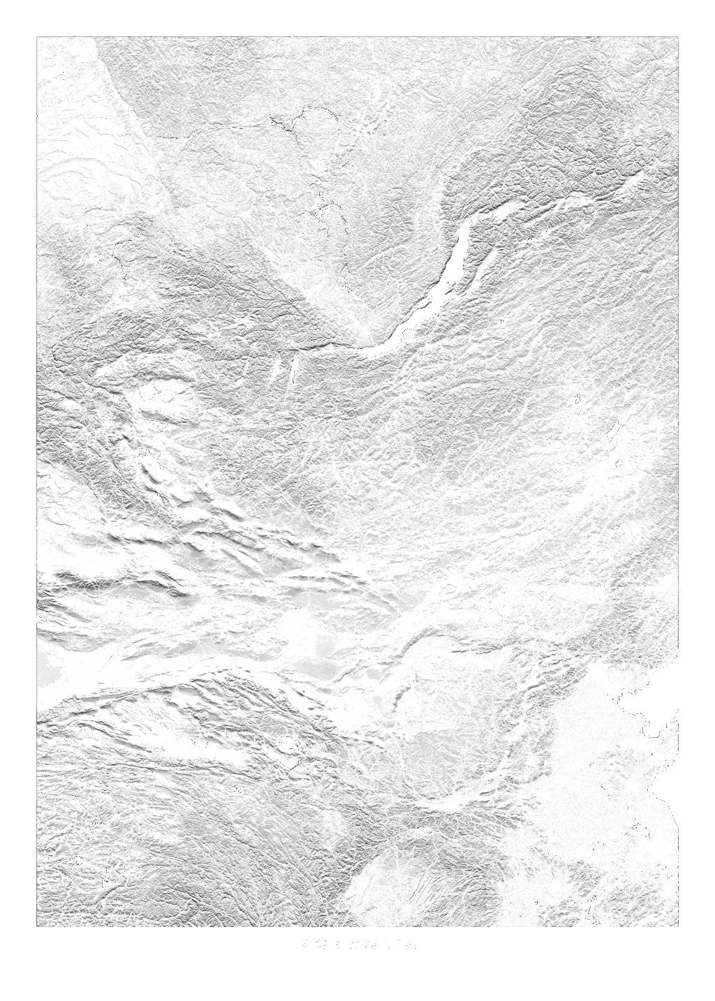 Mongolia wall map