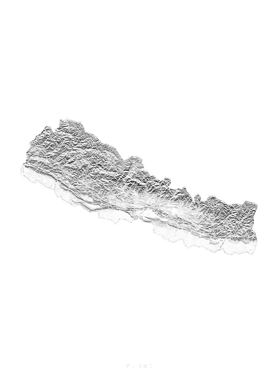 Nepal wall map