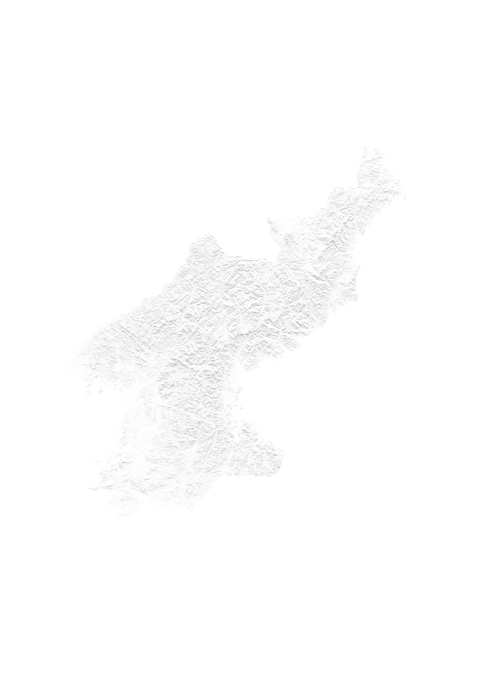 North Korea wall map