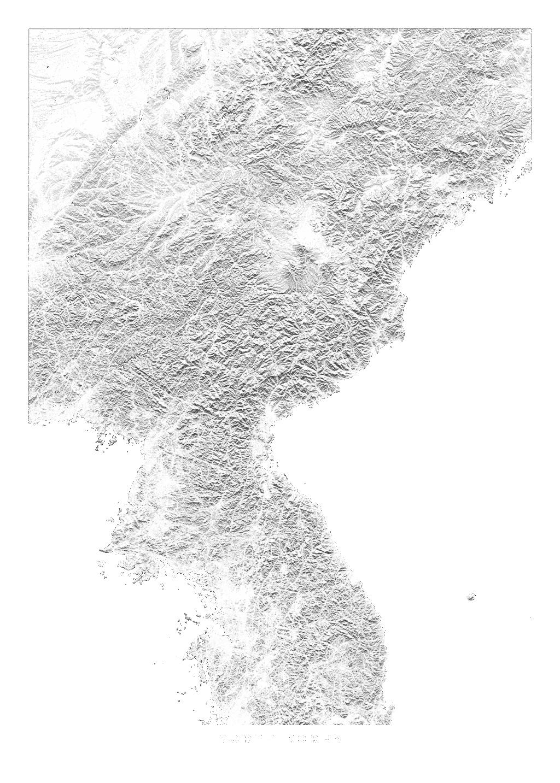 North Korea wall map