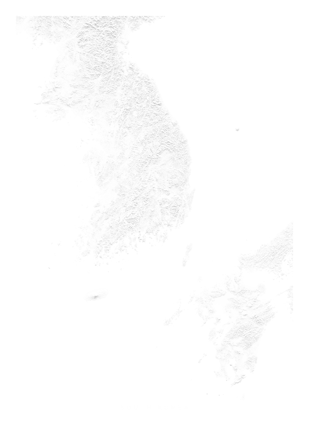 South Korea wall map