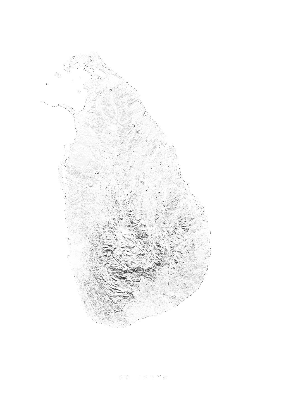 Sri Lanka wall map