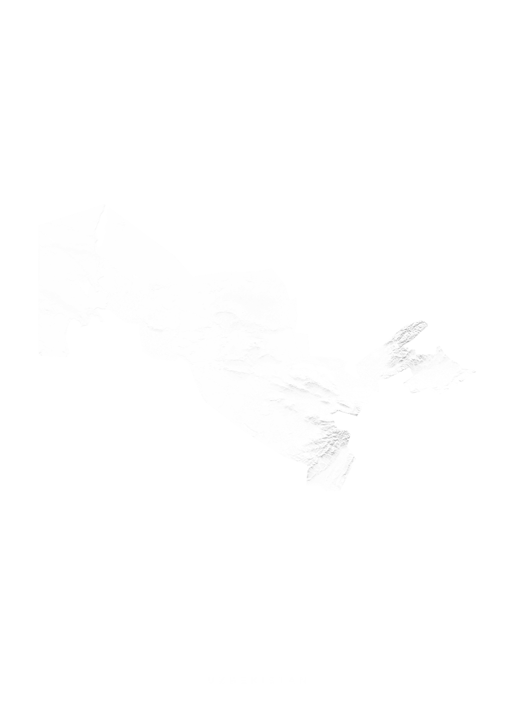 Uzbekistan wall map