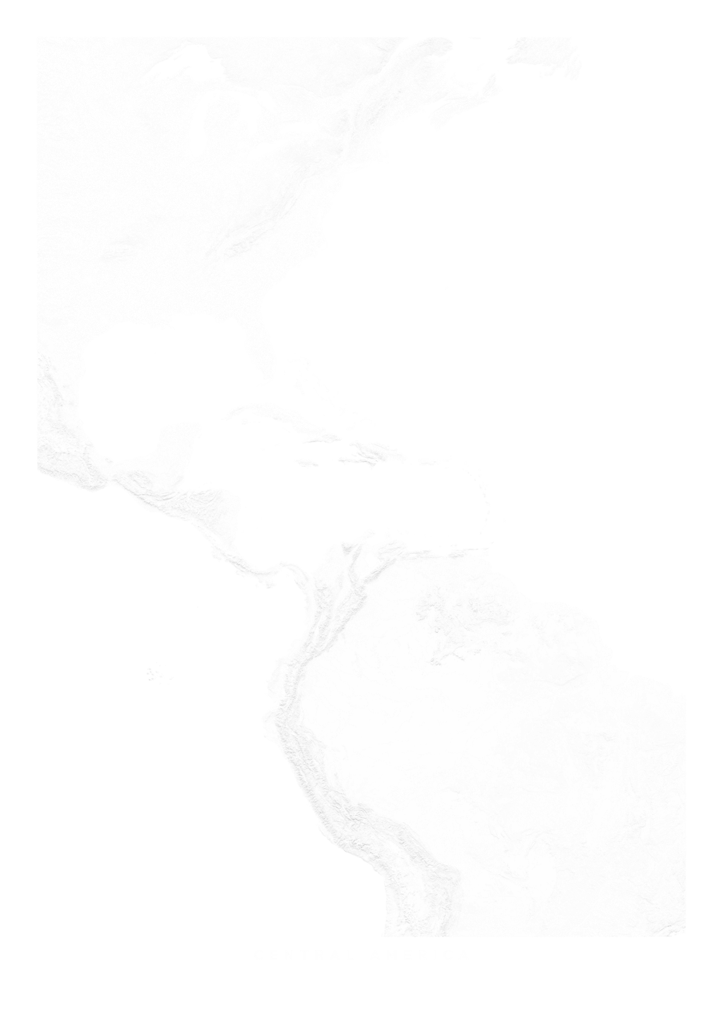Central America wall map