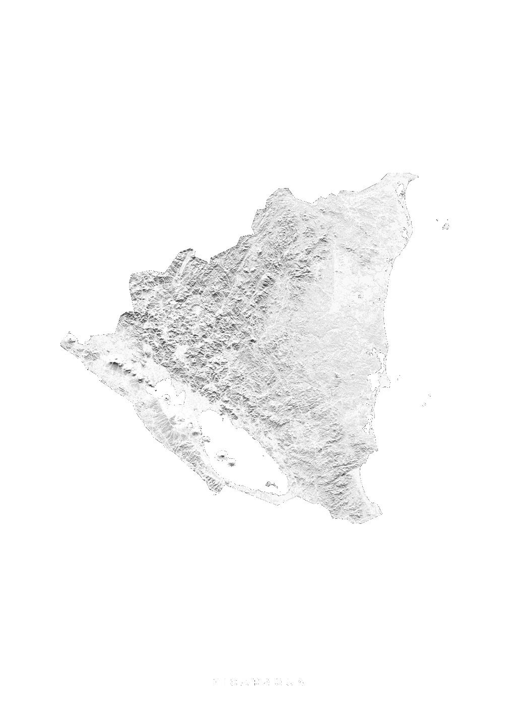 Nicaragua wall map