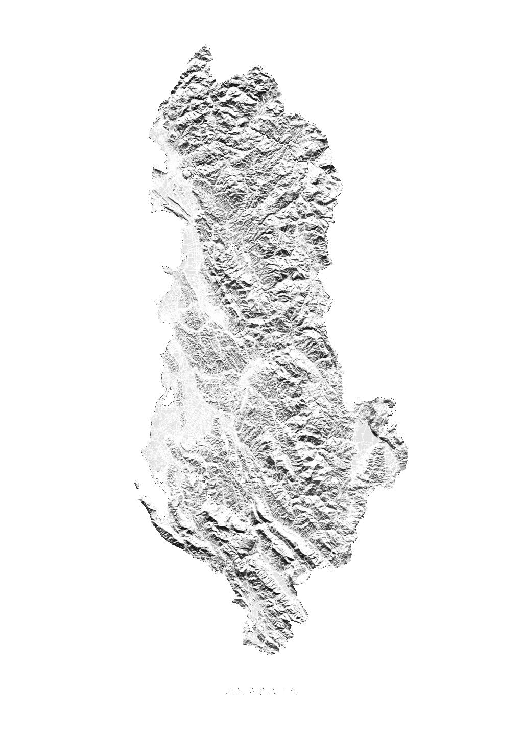 Albania wall map