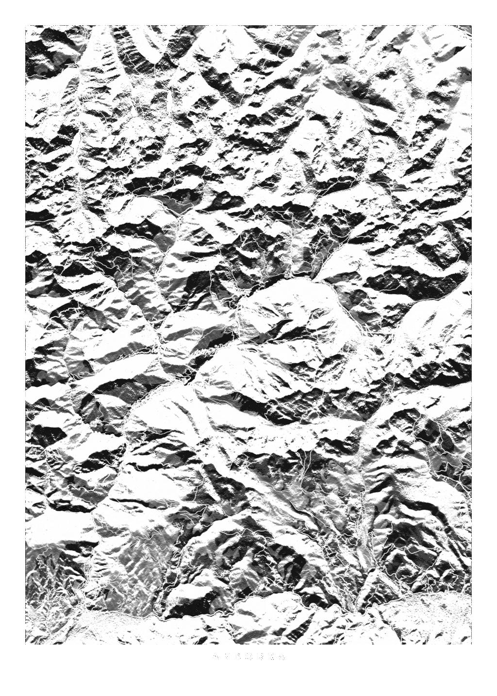 Andorra wall map