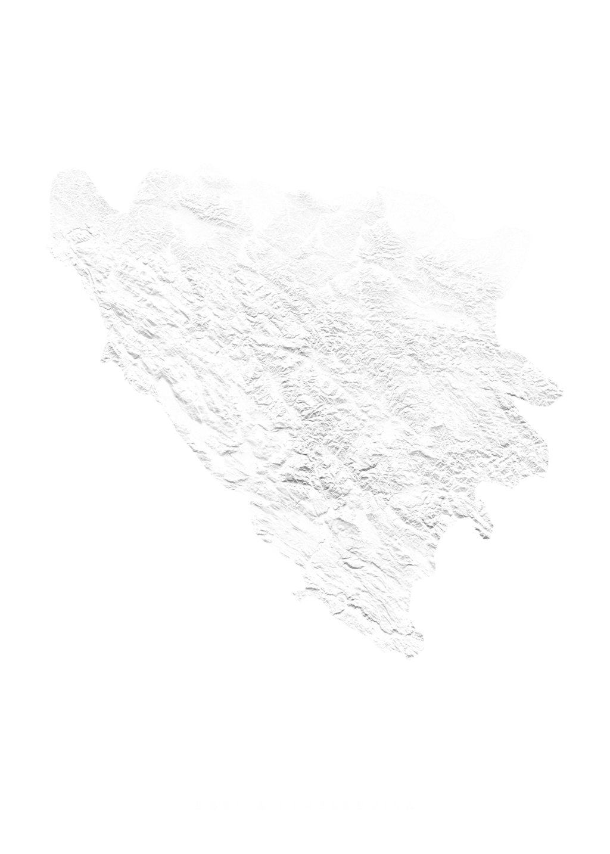 Bosnia Herzegovina wall map