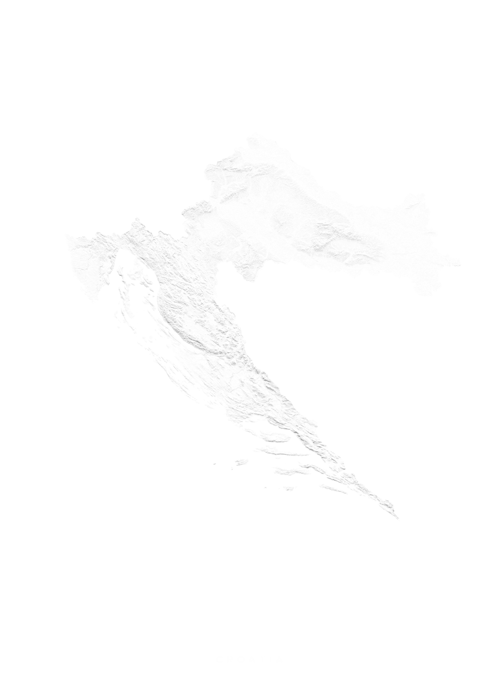 Croatia wall map
