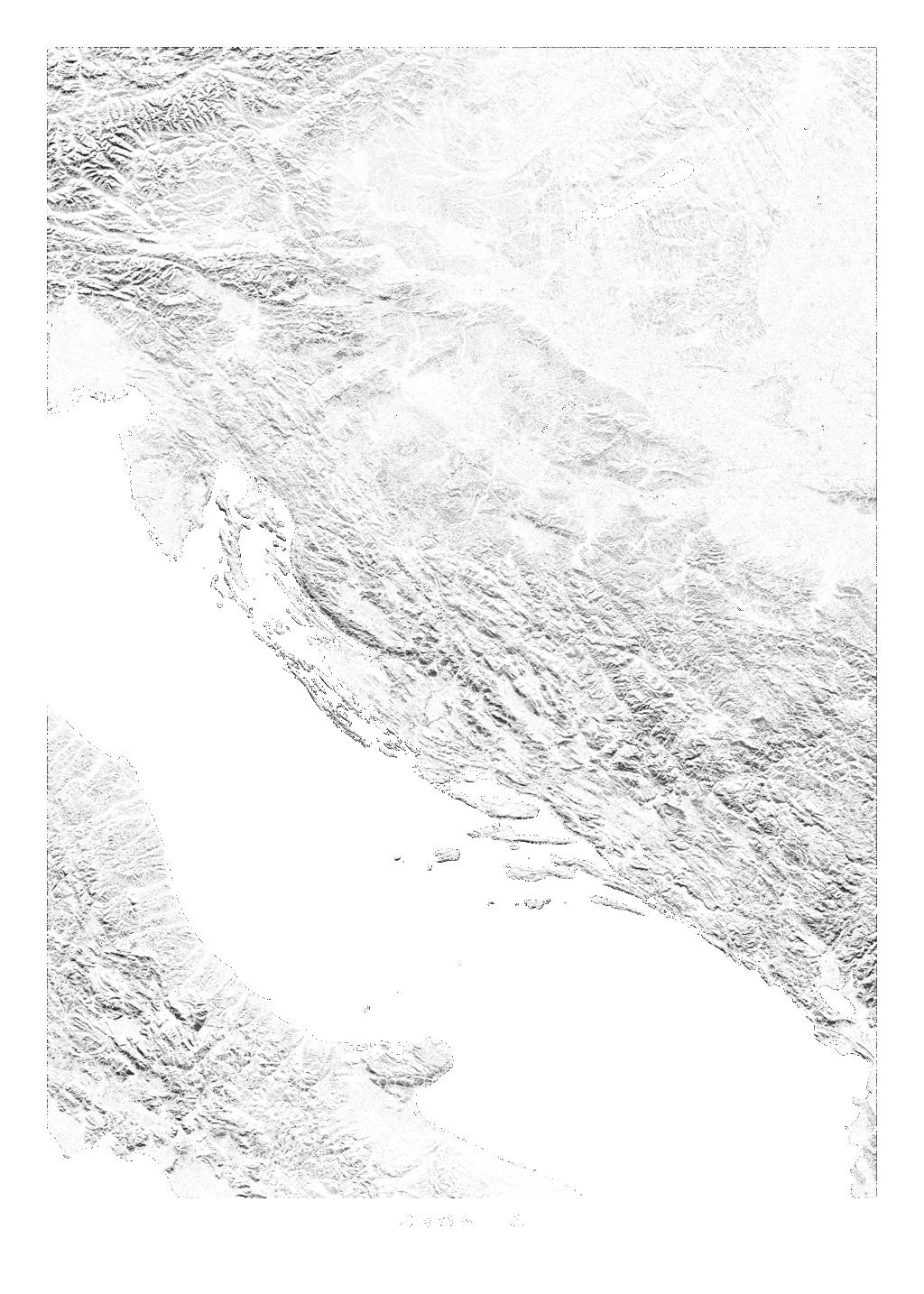 Croatia wall map