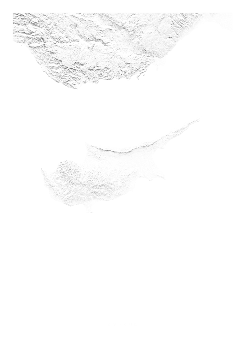 Cyprus wall map