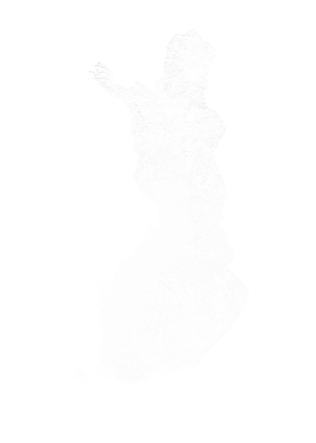 Finland wall map