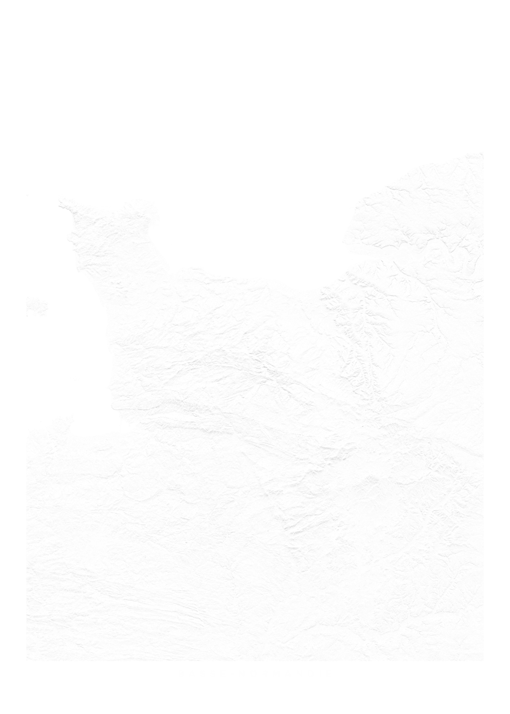 Basse Normandie wall map