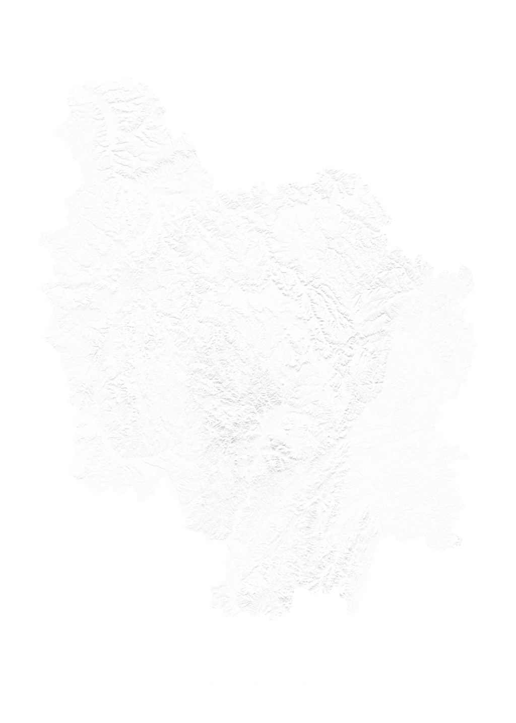 Bourgogne wall map