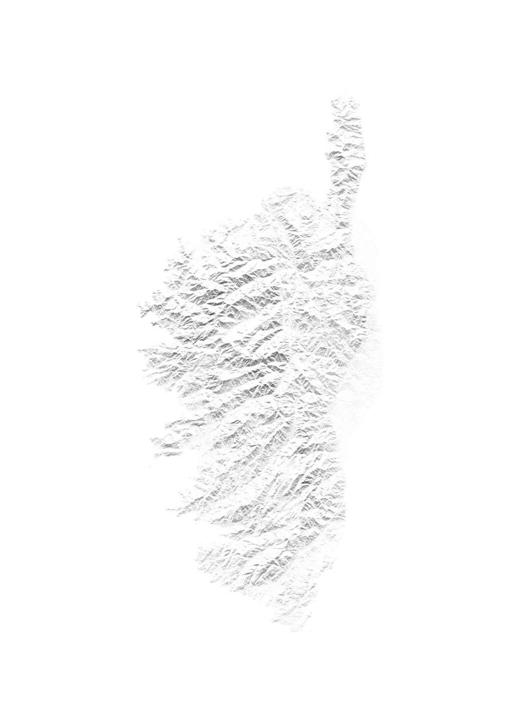 Corse wall map