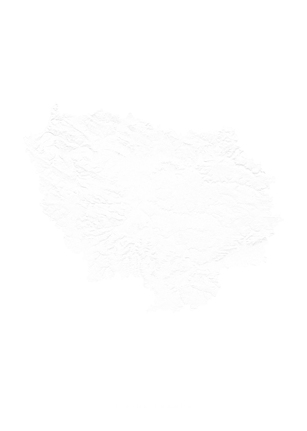 Ile De France wall map