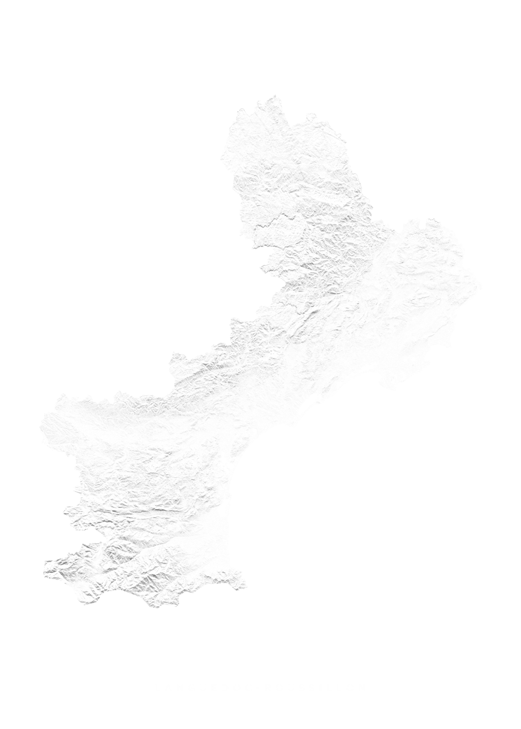 Languedoc Roussillon wall map