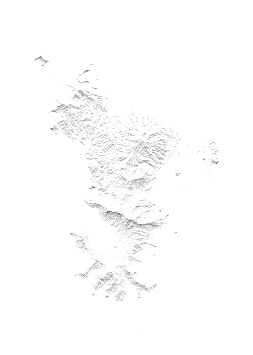 Mayotte wall map