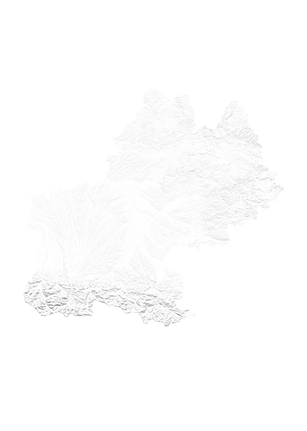 Midi Pyrenees wall map