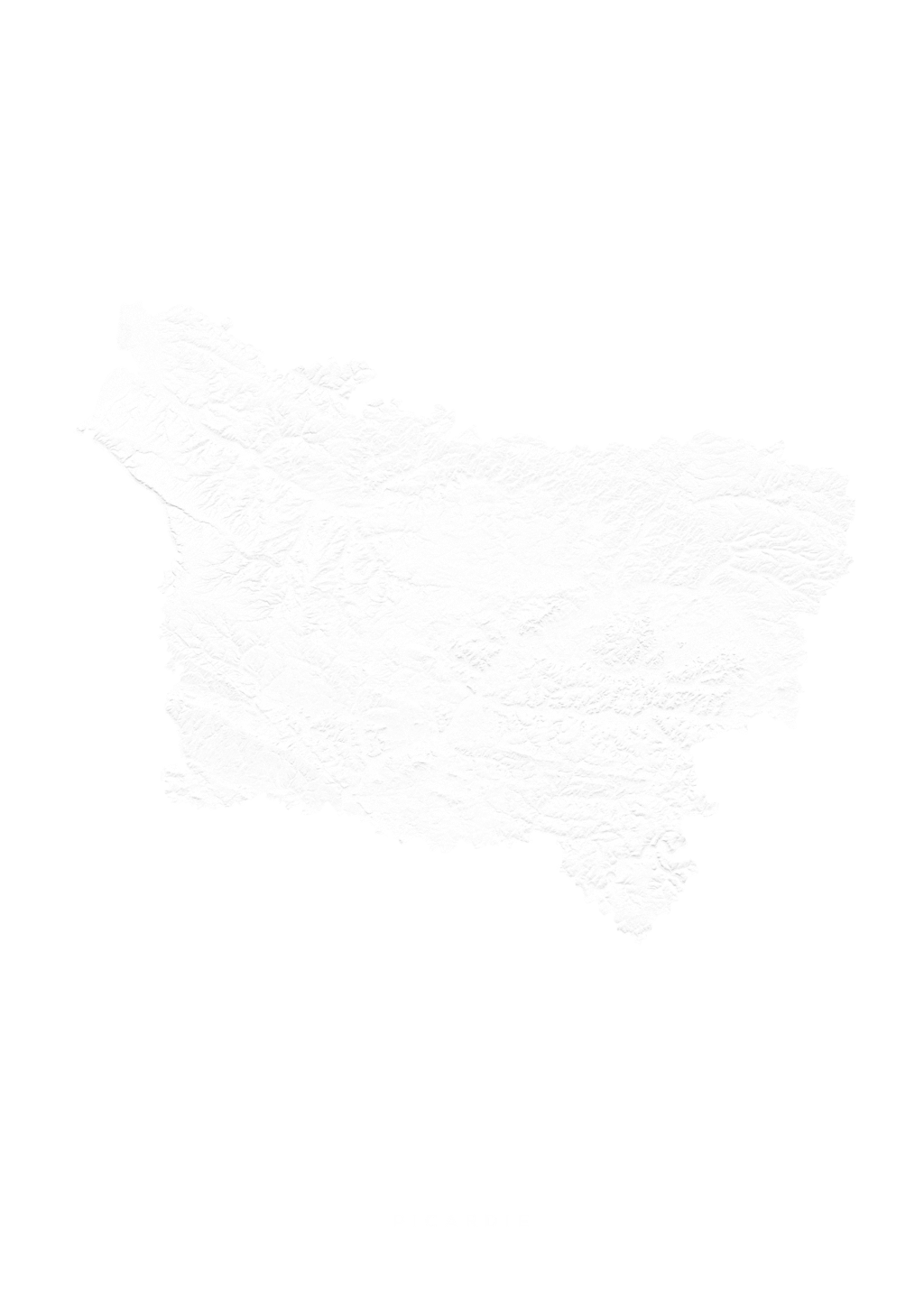 Picardie wall map