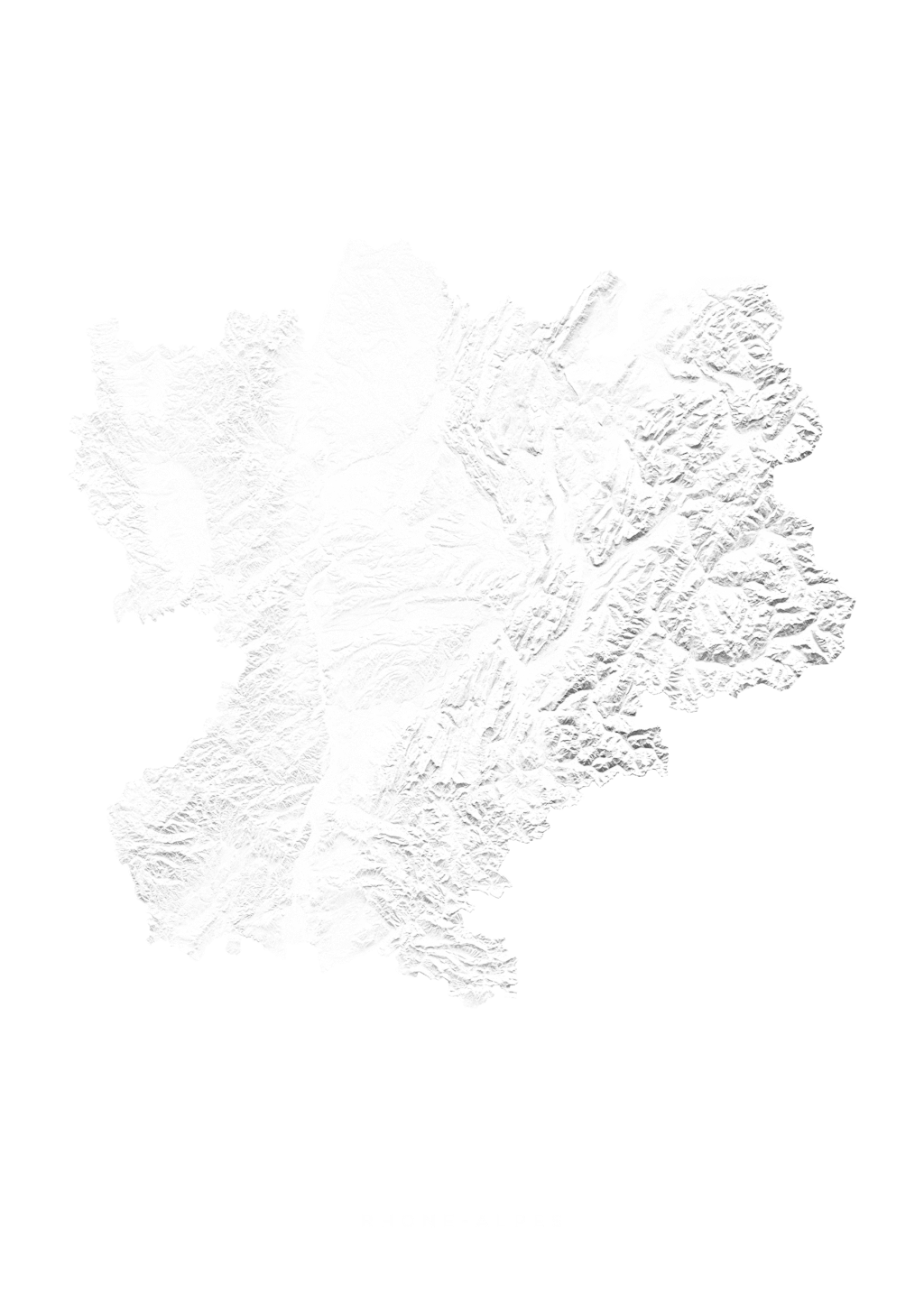 Rhone Alpes wall map