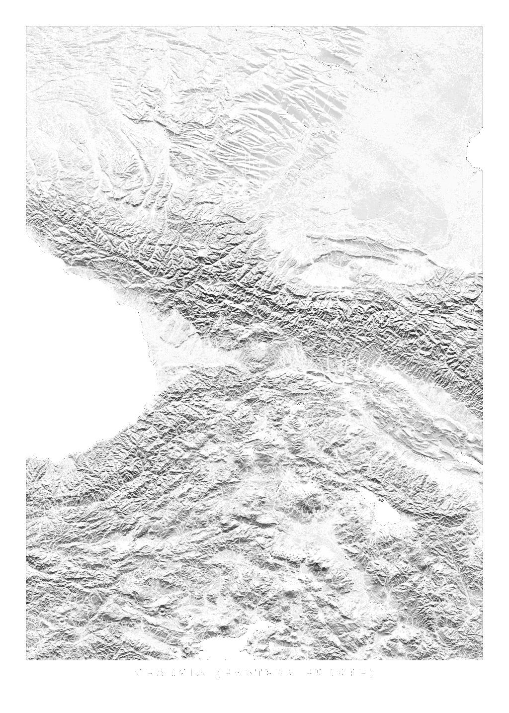 Georgia (Eastern Europe) wall map
