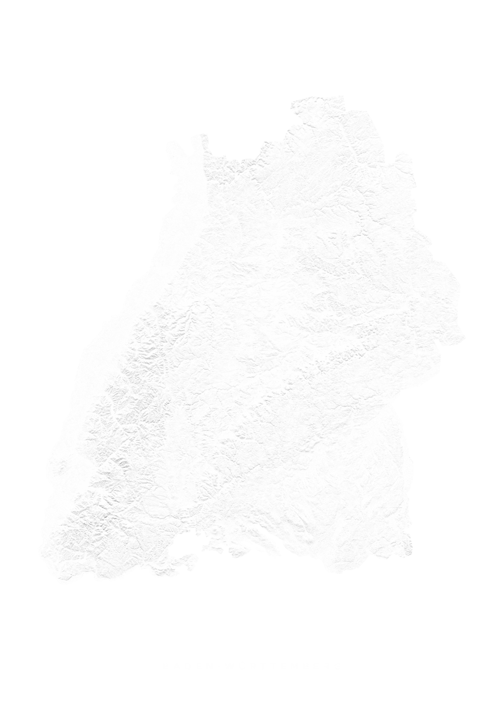 Baden WÜrttemberg wall map