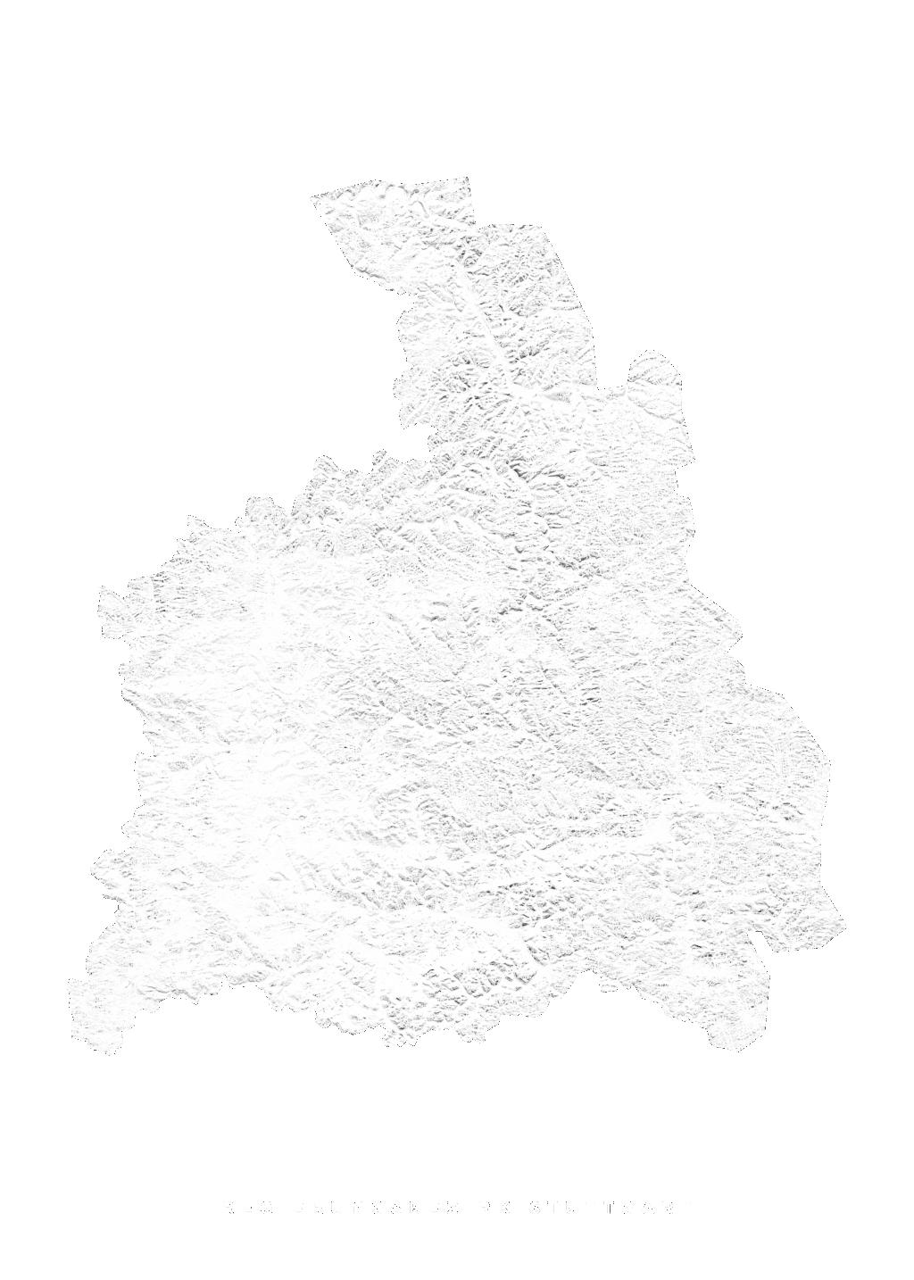 Regierungsbezirk Stuttgart wall map