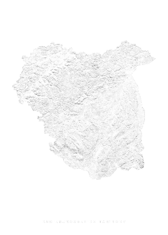 Regierungsbezirk TÜbingen wall map