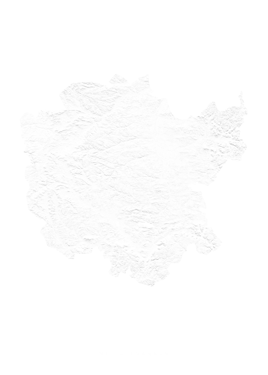 Mittelfranken wall map