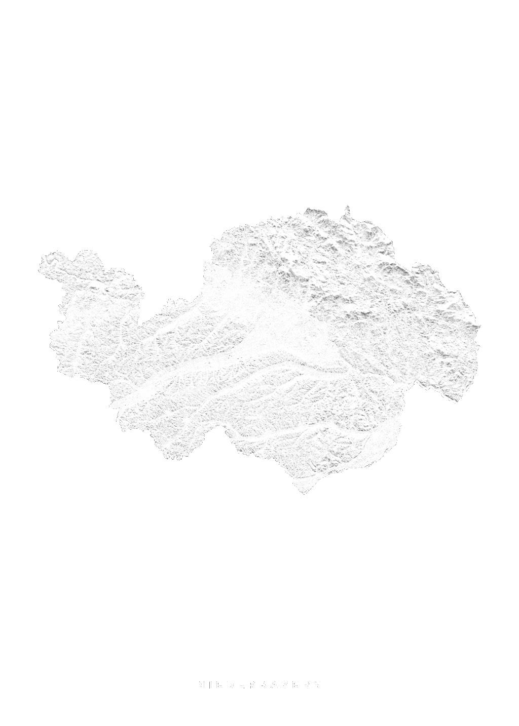 Niederbayern wall map